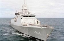 Ms. De Ruyter en 2 andere Nederlandse marineschepen controleerden de zee voor de Libanese kust op illegale wapentransporten, als onderdeel van onderdeel van de Maritime Task Force van de VN