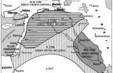 1916 Sykes Picot MO-verdelingsplan