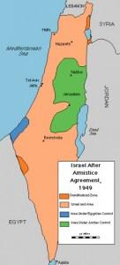 1949 - 1967 Israels grenzen
