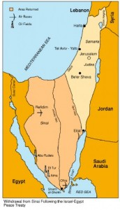 1980-1982 Vrede met Egypte, vertrek Sinai