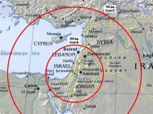 2012 Scudbereik uit Libanon