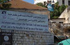 Bord bij kerk Bethlehem