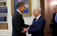 Obama meets Peres