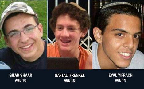 Vermoorde Israelische tieners