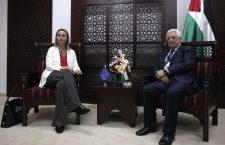 HV van de EU Federica Mogherini en PA-president Mahmoud Abbas. Bron: European External Action Service.