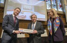 Minister Zijlstra, secretaris-generaal van de VN António Guterres en minister Kaag. Bron: Ministerie van Buitenlandse Zaken / Flickr.