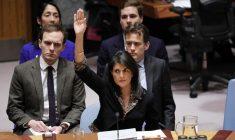 Amerikaanse ambassadeur Haley haalt uit naar Abbas bij de VN