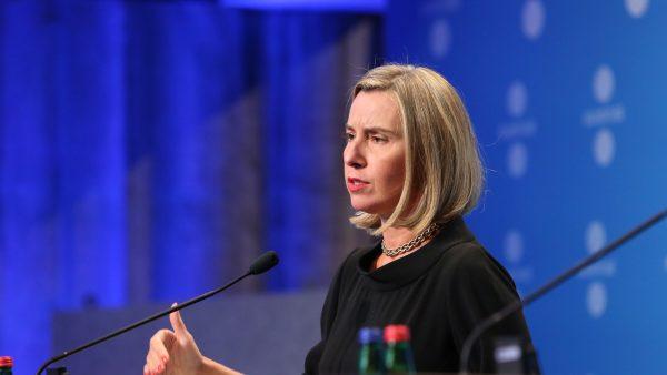 EU-Hoge Vertegenwoordiger Mogherini spreekt Arabische Liga toe