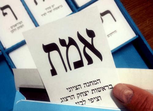 Stembiljet Israelische verkiezingen