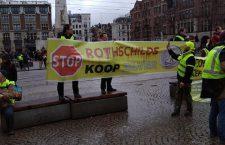 Antisemitisch spandoek bij demonstratie gele hesjes in Nederland