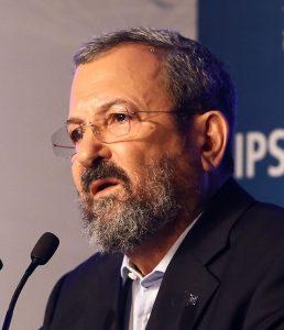 Ehud Barak, die nu een linkse alliantie met Meretz aangaat
