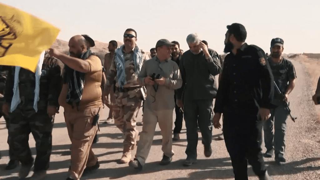 Iraakse milities met adviseurs uit Iran.