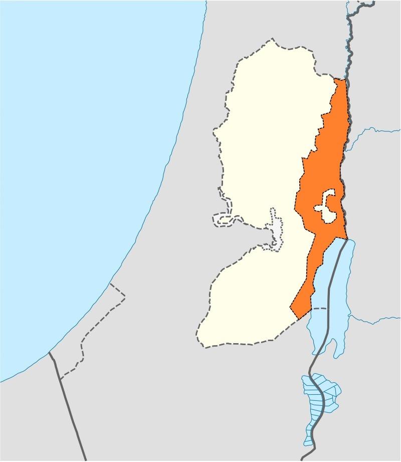 Voorgesteld plan voor de annexatie van de Westelijke Jordaanoever uit 2019 - Wikimedia Commons