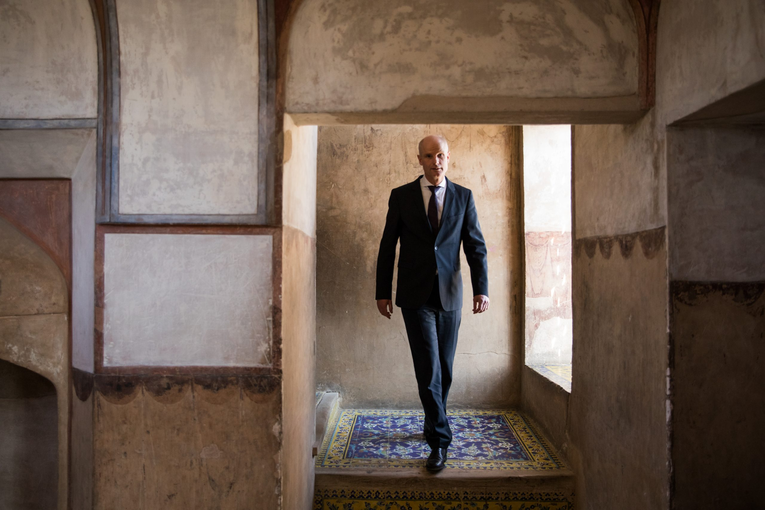 Minister Blok (Buitenlandse Zaken) op bezoek in Iran
