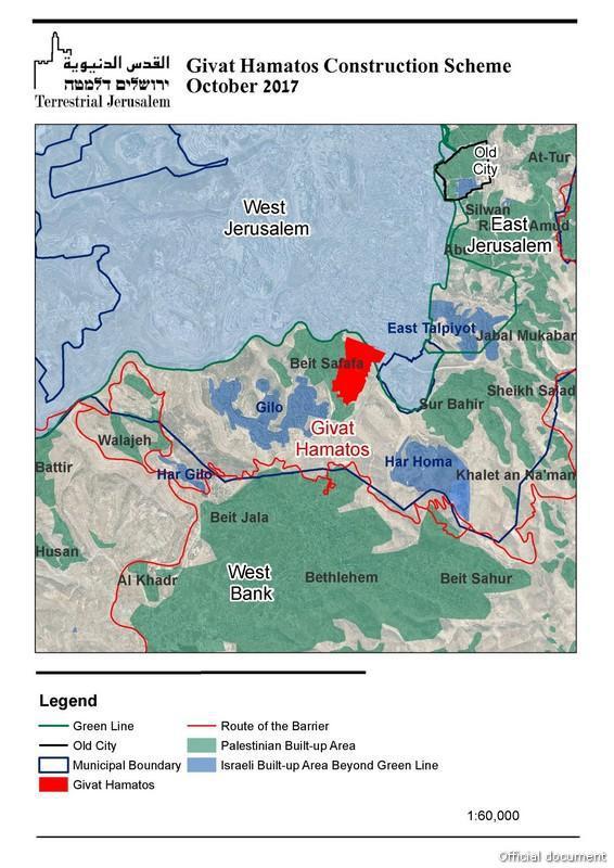 kaart Zuid-Jeruzalem