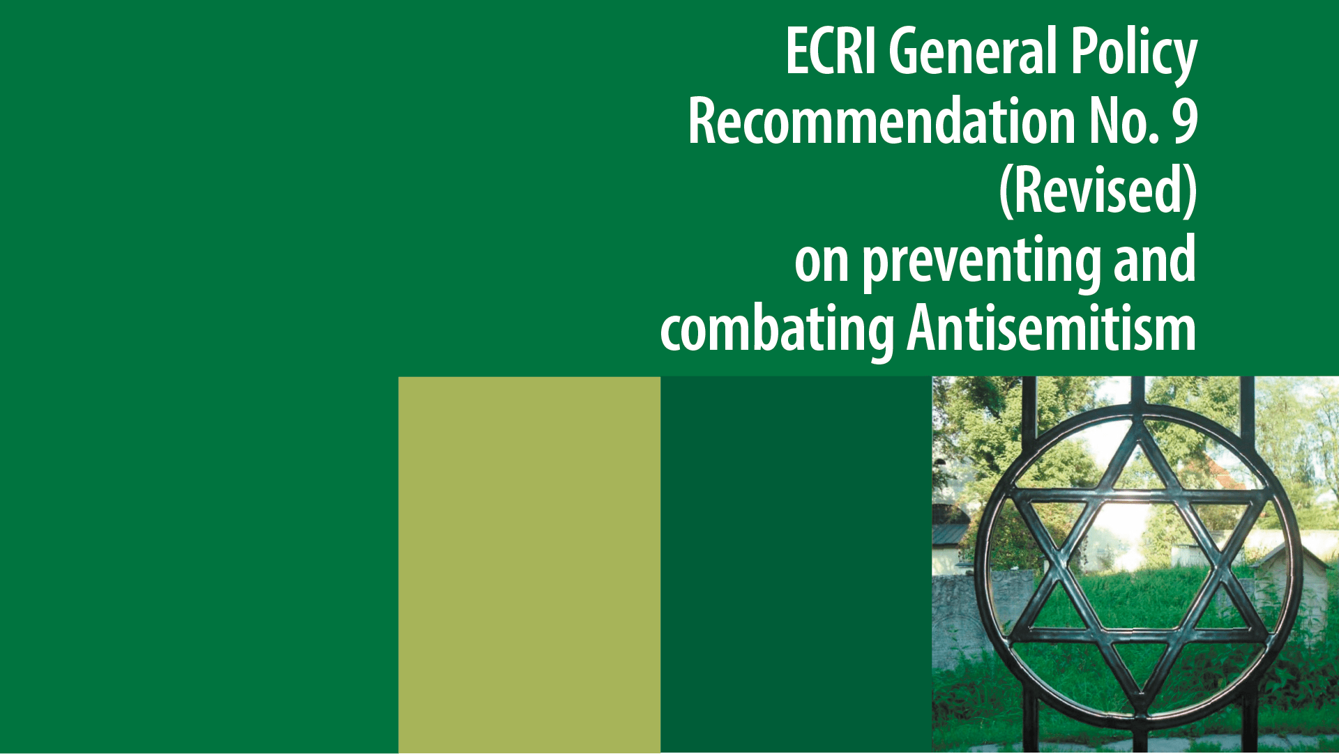 aanbevelingen europese commissie antisemitisme