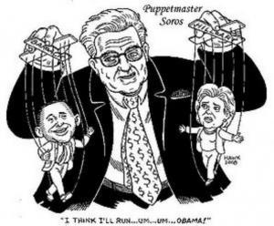 Karikatuur van Soros, 1